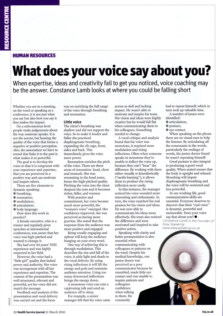 What Does Your Voice Say About You?